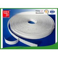 Quality 12mm white hook and loop adhesive tape without edge , 25m per roll wholesale