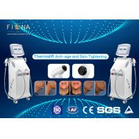 China White Rf Skin Tightening Machine Anti - Aging Adjustable Energy With Five Handles on sale