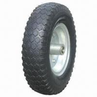 China 12 x 4.10/3.50-4 Rubber Foam Wheel with 250lbs Loading Capacity on sale