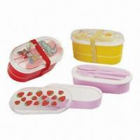 Quality Lunch Boxes, Made of Plastic, BPA-free, Customized Designs are Accepted wholesale