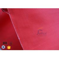 Cheap Anti Acid 480gsm 0.45mm Fiberglass Fire Blanket Red With Acrylic Coated for sale