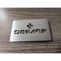 Buy cheap Factory Wholesale 304 Stainless Steel Metal Silver Card With Cut Thru Logo Text from wholesalers