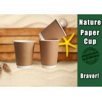 Cheap Hot / Clod Drink Kraft Paper Cups Customized Printing For Ice Cream for sale