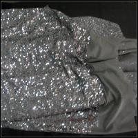 China Silver sequin fabric on sale