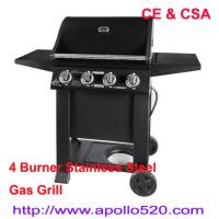 Quality Black Powder Coated Gas Grill 4burners wholesale