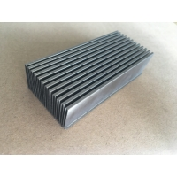 Quality Aluminum Anodized Customized Bonded Folded Fin Chip Heat Sink wholesale