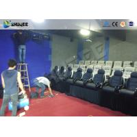Quality Game 7D Cinema System With Numerous Effects Set Up In Store Front , Walking Streets wholesale