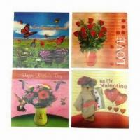 Quality 3D Lenticular Cards in Various Designs and Colors wholesale