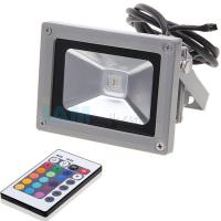 Quality Bridgelux 10w rgb led flood light outdoor with black shell , 100 degree Beam angle wholesale