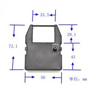 Quality inkribbon for COMMODORE MPS-801 628, GP55050 Thomson M 05, PR 582, RI 582, T 09 improved wholesale