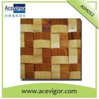 Cheap Solid wood wall tiles mosaic with wavy shape for sale