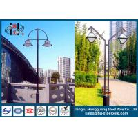 Quality Double Arms LED Steel Tubular Outdoor Street Lamp Post for Street Decorative Lighting wholesale
