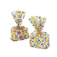 China Disposable Plastic Packaging Treat Bags / Easter Candy Bags / Cellophane Loot Bags on sale