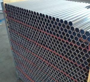 Silver Anodize Custom Aluminium Extrusion Round Tube For Aluminum Fence
