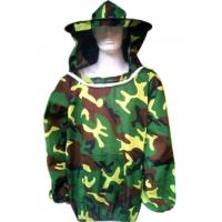 Quality Beekeeping Protective Clothing  Polyester Camouflage Beekeeping Jacket With Protective Beehat  Free Size wholesale