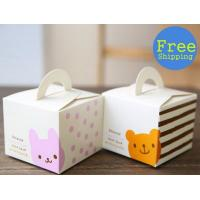 Quality Biodegradable Single Cute Cookie Cake Boxes With Window Varnishing Printing Handling wholesale