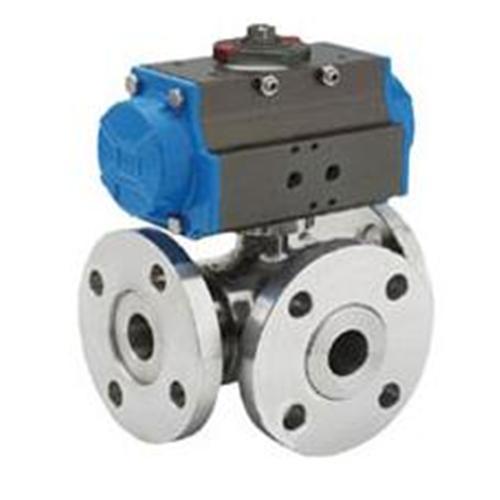 Cheap Pneumatic three-way ball valve for sale