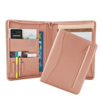 Quality PU Leather Portfolio Folder For Business People / College Students wholesale