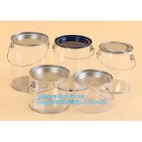 China aluminum tin aluminum container jar with clear window top aluminum cans with screw lid for cosmetic/food bagplastics pac on sale