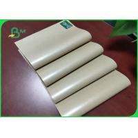 China 60g + 10g Unbleached Food PE Coated Paper / Waterproof Kraft Paper One Side Glossy on sale