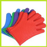 Quality colorful silicone finger glove oven mitts heat resistance glove with small hearts wholesale