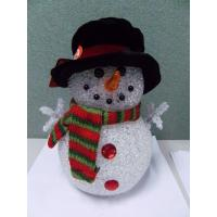 Quality Holiday Decoration LED Christmas Snowman , Light Up Snowman Indoor 3xAAA Battery wholesale
