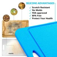 Quality Not Moldy Big Size BPA Free Anti Slip Silicone Cutting Mat Of Size 36*25CM wholesale