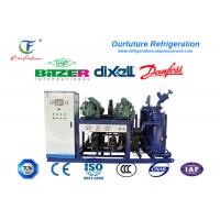 China R404a Refrigeration Water Cooled Screw Chiller Multi Stage Energy Controlling System on sale