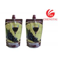 Cheap Food Grade Self Standing Spouted Plastic Pouches For Liquids Wine for sale