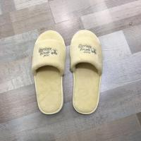 China Wholesale cut velvet custom disposable slippers open toe 100% cotton for hotel amenities on sale
