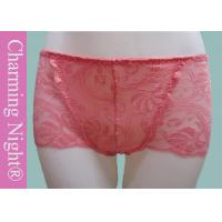 China Factory Sexy Transparent Beautiful Mature Womens Lace Boxer Underwear For Girls on sale