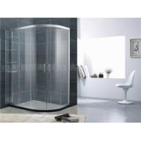 Quality Movable Shelf D Shaped Shower Cubicle Sand Silver Aluminum Alloy For Apartment wholesale
