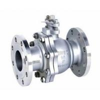 Quality 2-pc stainless steel ball flange valve ASME B16.34 full port wcb cf8m casting handle wholesale