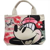 Quality White Womens Nylon Tote Bags Silk Screen Print With Zipper Closure wholesale