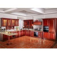 Cheap commercial oak solid wood kitchen cabinets open for Cheap kitchen carcass