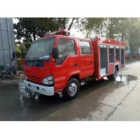 China 2 Tons ISUZU Firefighter Truck , Small Mobile 2000 Liters Water Tanker Fire Truck on sale