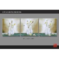 Quality 3D 4D 5D Faux Tile Wall Panels Bamboo Fiber Calla Lily Pattern Fireproof wholesale