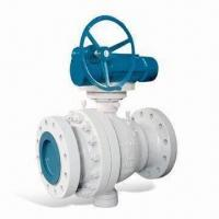 Quality 2-piece API 6D Forged Ball Valve, Electric Actuator, 2-way Trunnion Mounted Design wholesale