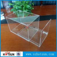 Quality factory custom clear acrylic shoe boxes/perspex shoe box/display shoe box wholesale
