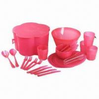 Quality 26 or 30 Pieces Picnicware Set, Made of PP, Available in Various Sizes and Colors wholesale