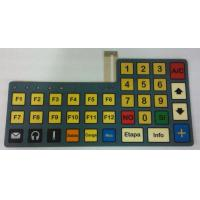 Polyester Silk Printed Tactile Flexibile Membrane Switch Keyboard For Mobile Phone