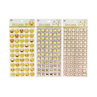 Cheap Adhesive Kids Sticker Printing Smily Face Emoji Or Letter Symbols Patten for sale