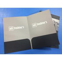 Cheap OEM Personalized Pocket Folders A4 Size Embossing Saddle Stitching Custom Color for sale