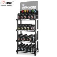 Quality 4-Layer Engine Oil Metal Display Racks Automotive Products Motor Oil Display Shelf wholesale