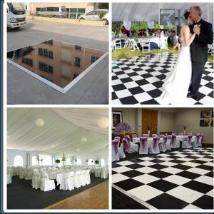 RK Manufacture 4*4ft black/white  portable dance floor event decoration equipment
