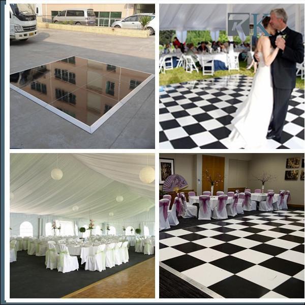 Cheap RK Manufacture 4*4ft black/white  portable dance floor event decoration equipment for sale