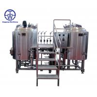 Quality 3 Barrel Craft Beer Brewing Equipment 0-80 KW Rotation Spray Ball Cleaning wholesale