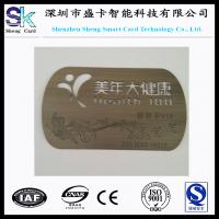 Quality 2015 Customized Non-Standard Stainless Steel Metal Engraved Card wholesale