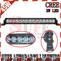 Quality 45W CREE LED LIGHT BAR SPOT FLOOD COMBO OFFROAD LIGHT TRACTOR BOAT MILITARY EQUIPMENT LED wholesale