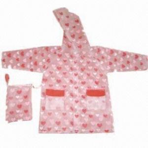 Quality Children's fashion rain coat (printed rain coat), 100% waterproof wholesale
